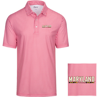 Oxford America Gordon Gingham Short Sleeve Polo