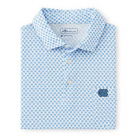 Peter Millar Seaside Aqua Cotton Blue Shell Polo