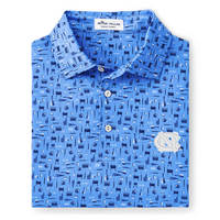 Peter Millar Landmark Printed Tailgate Stretch Jersey Polo