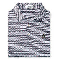 Peter Millar Karaoke Printed Records Stretch Mesh Polo