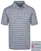 Oxford America Hartley Heather Stripe Jersey Polo