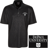 Embossed Sketch Plaid Polo