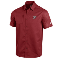 Under Armour Short Sleeve Woven Full Button Up