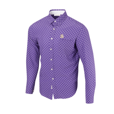 The Sewanee Tigers Collection Diagonal Button Up LS Woven