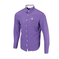 Full Turn Direct Diagonal Button Up LS Woven