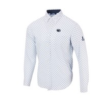 For the Glory at Penn State Diagonal Button Up LS Woven