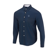 The Georgetown Collection Dot Button Up LS Woven