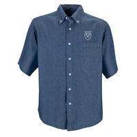 Vantage Mens Short Sleeve Hudson Denim Shirt
