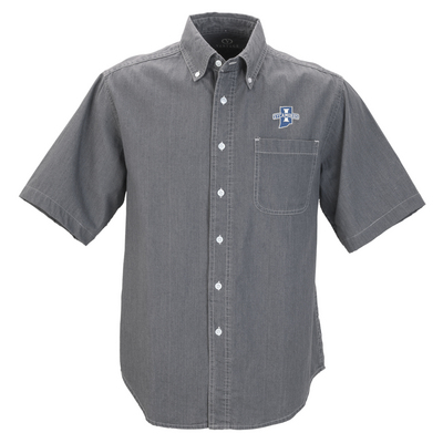 Vantage Mens ShortSleeve Hudson Denim Shirt