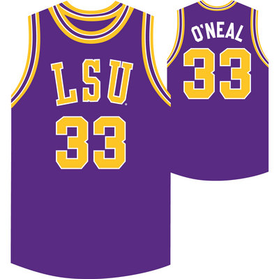 a9d706d97e6 Retro Brand Shaquille O Neal LSU Replica Basketball Jersey | Barnes & Noble  at LSU
