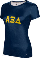 Alpha Xi Delta Womens Short Sleeve Tee Heather