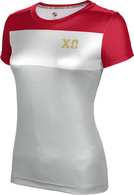 Chi Omega Womens Short Sleeve Tee Heather