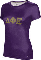 Delta Phi Epsilon Womens Short Sleeve Tee Heather (Online Only)