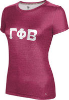 Gamma Phi Beta Womens Short Sleeve Tee Heather