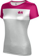 Phi Mu Womens Short Sleeve Tee Heather