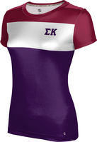 Sigma Kappa Womens Short Sleeve Tee Heather