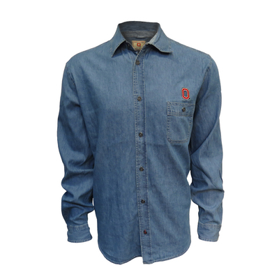 J.America Chambray Button Up Long Sleeve Shirt