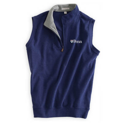 Peter Millar Mlange Fleece Quarter Zip Vest