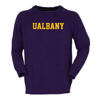 Bruzer Crewneck Sweater with Intarsia