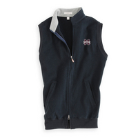 Peter Millar Melange Fleece Quarter Zip Vest