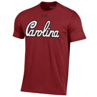 Under Armour Script Carolina Charged Cotton Tee