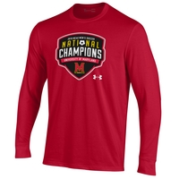 UA Mens Soccer National Champions Long Sleeve Tee