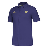 Adidas Mens Game Mode Full Button Polo