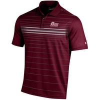 Under Armour Cold Black Printed Stripe Polo