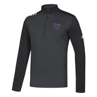 Adidas Mens 3 Stripe Half Zip