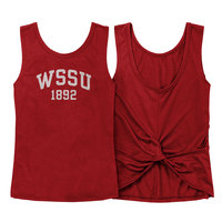 Red Shirt Athleisure Twist Back Top