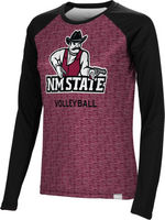 Volleyball Spectrum Womens Sublimated Long Sleeve Tee (Online Only)