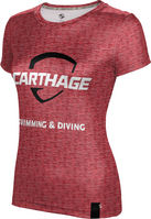 Prosphere Womens Sublimated Tee Swimming & Diving