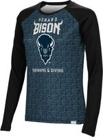 Swimming & Diving Spectrum Womens Sublimated Long Sleeve Tee (Online Only)
