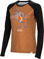 Music Spectrum Womens Sublimated Long Sleeve Tee (Online Only)