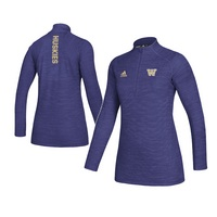 Adidas Womens Game Mode Long Sleeve Knit Quarter Zip