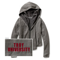 Red Shirt Athleisure Open Cardi