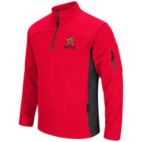 Mens Heavy Corded Fleece 14 Zip Pullover