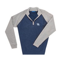 The Collection at Kentucky Merino Wind Block Raglan Quarter Zip