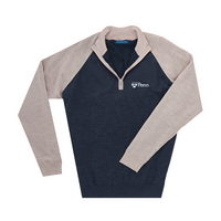 The Collection at the University of Pennsylvania Merino Wind Block Raglan Quarter Zip