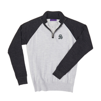 The Sewanee Tigers Collection Merino Wind Block Raglan Quarter Zip