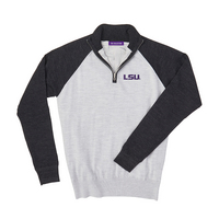 The Collection at LSU Merino Wind Block Raglan Quarter Zip