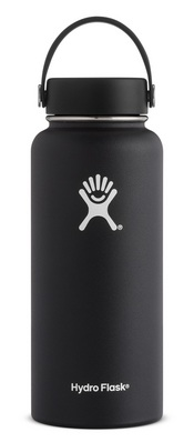 Hydro Flask 32oz Wide Mouth with Flex Lid  Black