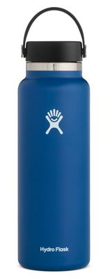 HYDRO FLASK 40 OZ WIDE MOUTH WITH FLEX CAP COBALT 2.0