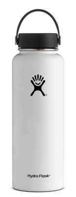 HYDRO FLASK 40 OZ WIDE MOUTH WITH FLEX CAP WHITE 2.0