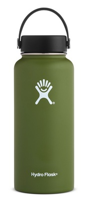 Hydro Flask 32oz Wide Mouth with Flex Lid  Olive
