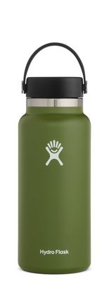 HYDRO FLASK 32 OZ WIDE MOUTH WITH FLEX CAP OLIVE 2.0