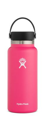 HYDRO FLASK 32 OZ WIDE MOUTH WITH FLEX CAP WATERMELON 2.0