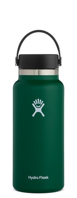 HYDRO FLASK 32 OZ WIDE MOUTH WITH FLEX CAP SAGE 2.0