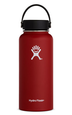 Hydro Flask 32oz Wide Mouth with Flex Lid  Lychee Red