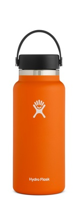 HYDRO FLASK 32 OZ WIDE MOUTH WITH FLEX CAP ORANGE ZEST 2.0